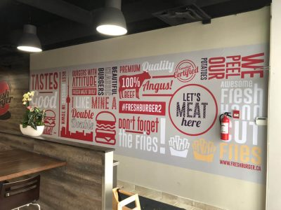 Fresh Burger Wall