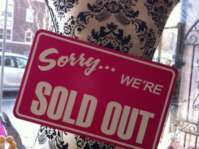 Sorry We Are Sold Out Sign