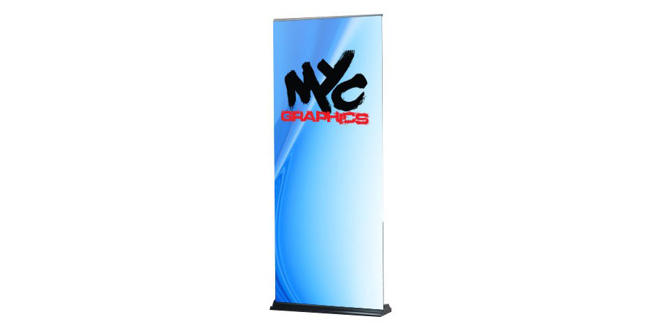 Banner Stands MYC Graphics - Retractable banner template