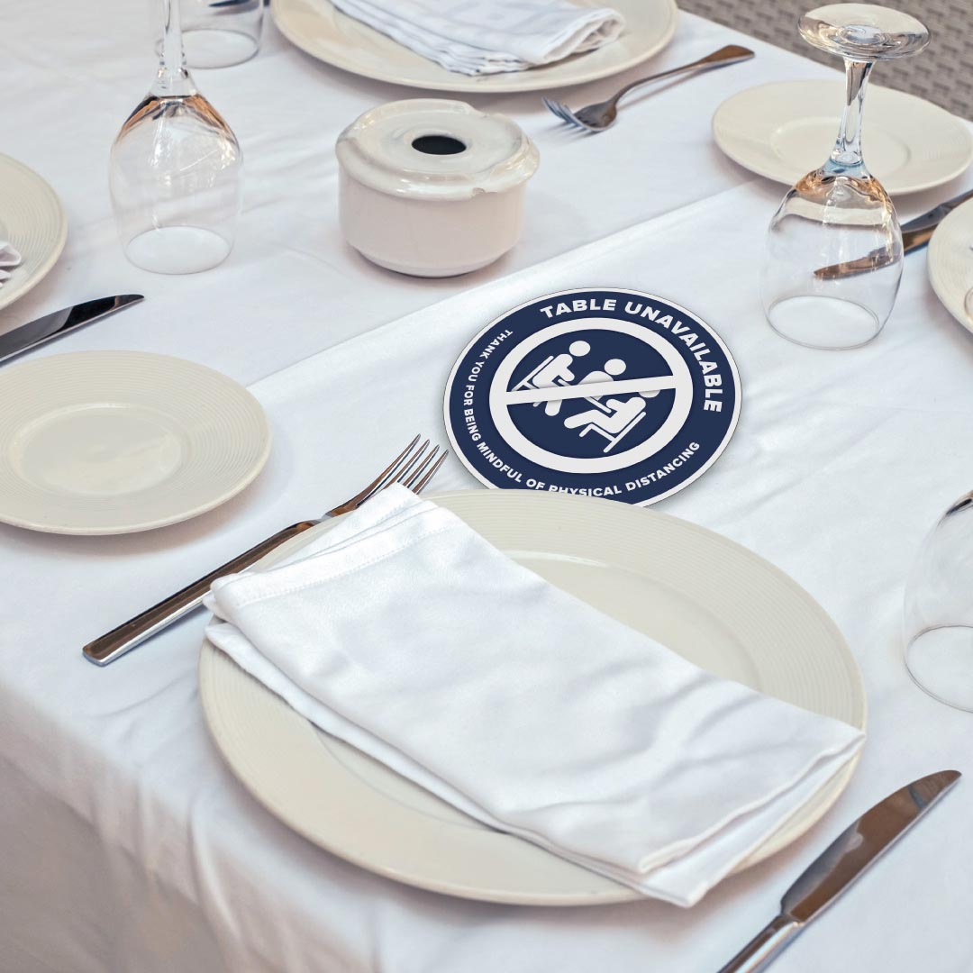 Table toppers for Restaurants