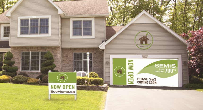 exterior signage for builders and construction groups